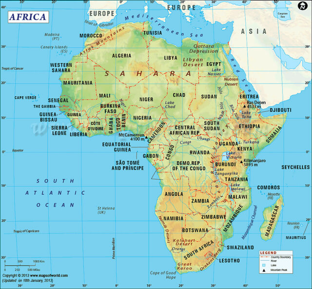 Africa continents
