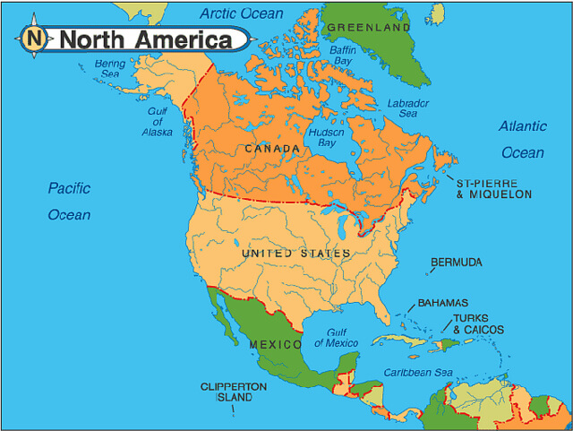 North America continents