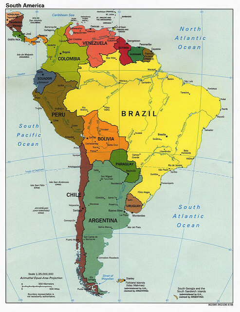 South America continents