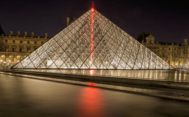 The Louvre museum of paris