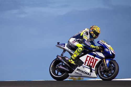 Motorcycle road Racer Valentino Rossi