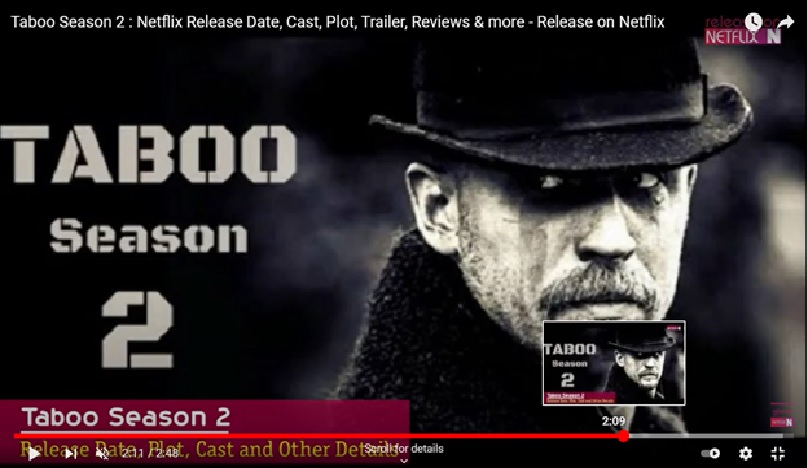 English Web Series Taboo Season 2 Review, Story, Release Date & Cast!!!!